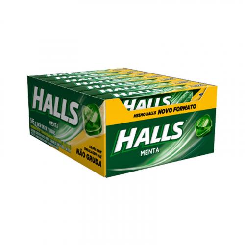 Drops Halls Menta - caixa com 21 uni.