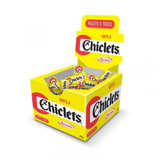CHICLETE CHICLETS HORTELÃ 100 UND