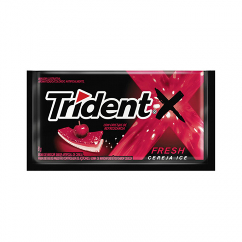 CHICLETE TRIDENT X FRESH CEREJA 21x40 GR