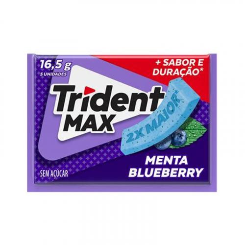 CHICLETE TRIDENT MAX MENTA BLUEBERRY 14x16,5 GR