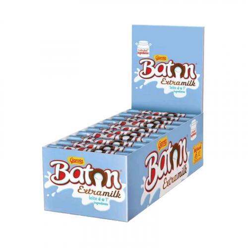 CHOCOLATE BATON EXTRA MILK GAROTO 30x16 GR