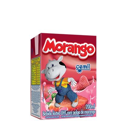 Bebida Láctea Morango Cemil - caixa com 27 uni. de 200ml