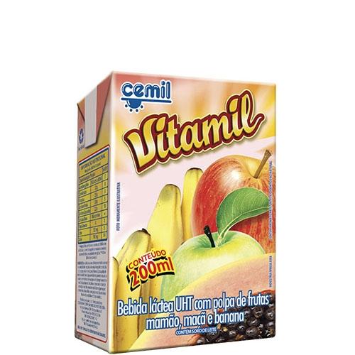 Bebida Láctea Vitamil Cemil - caixa com 27 uni. de 200ml