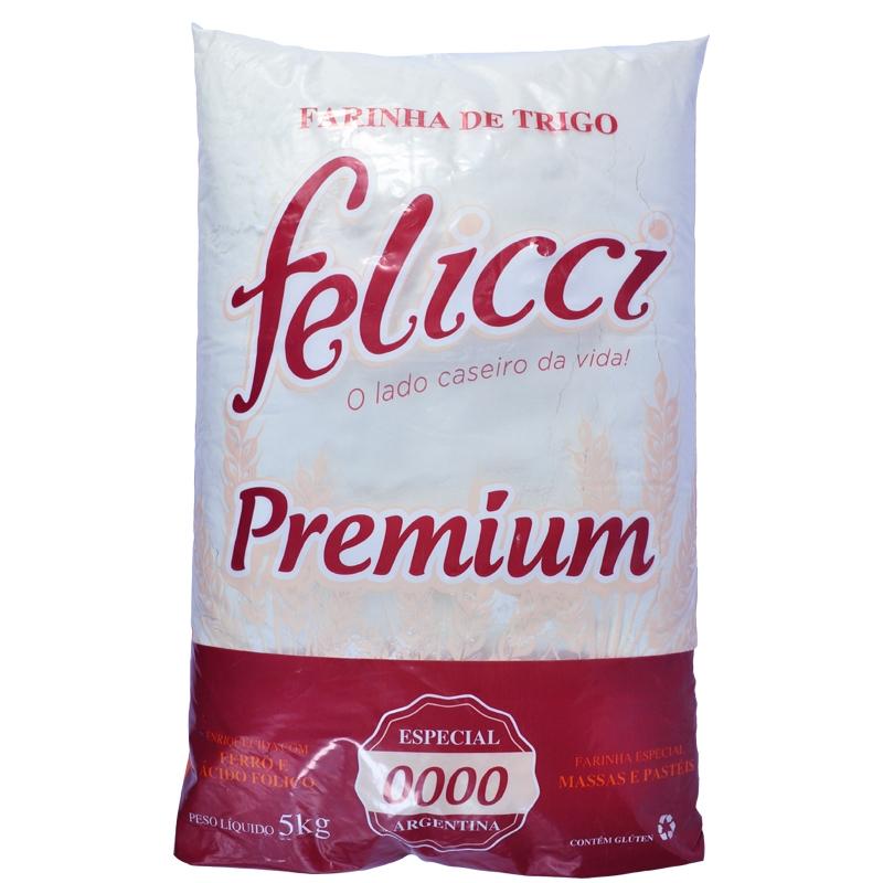 Farinha de Trigo Especial 0000 Felicci Pastel 5kg