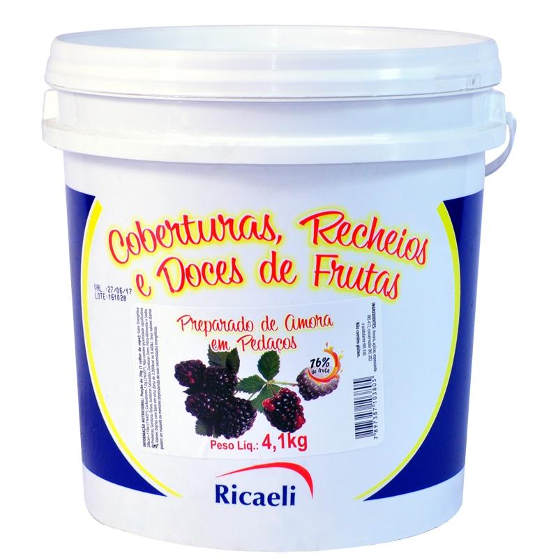 Polpa de Amora Ricaeli 4,1kg