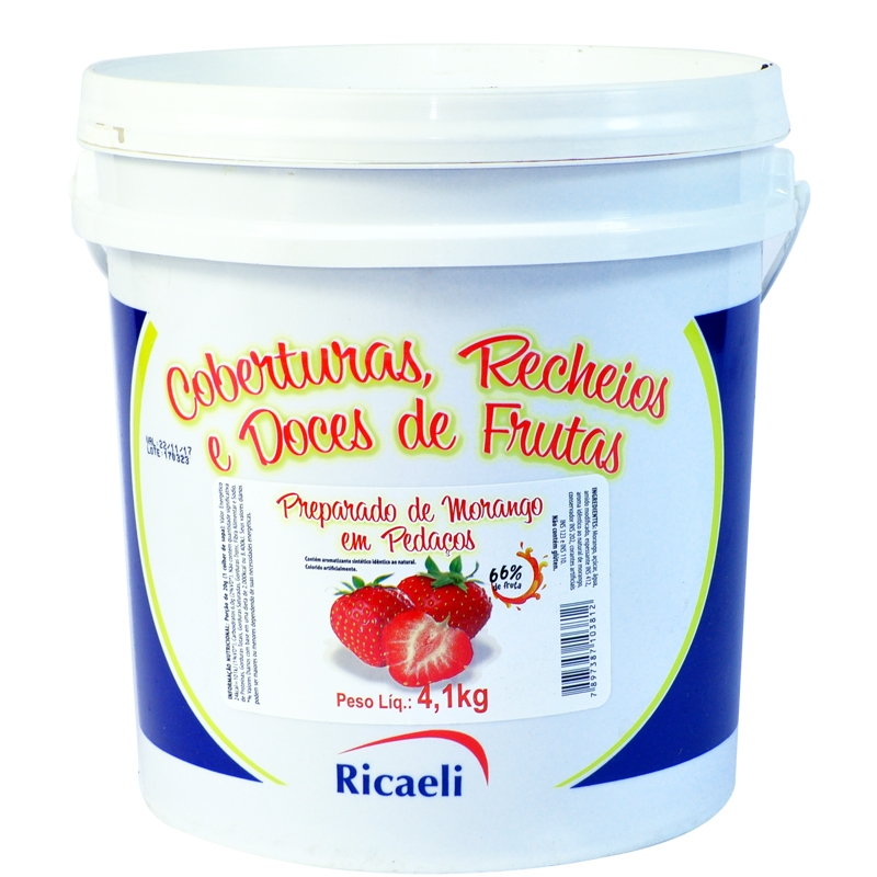 Polpa de Morango Ricaeli 4,1kg