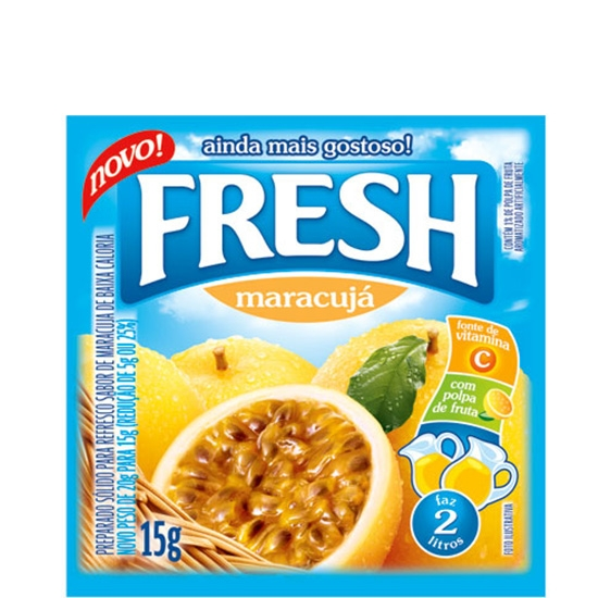 Refresco Fresh Maracujá 15 uni. de 10grs
