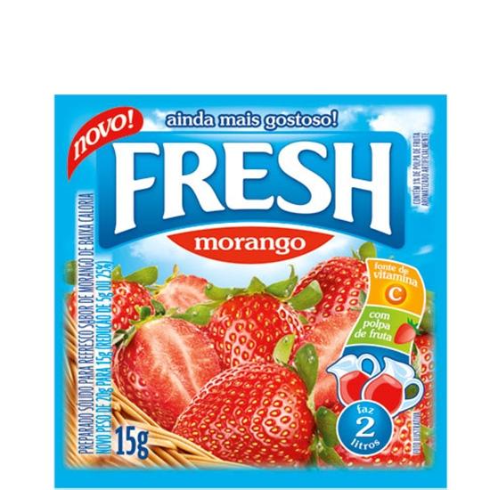 Refresco Fresh Morango 15 uni. de 10grs