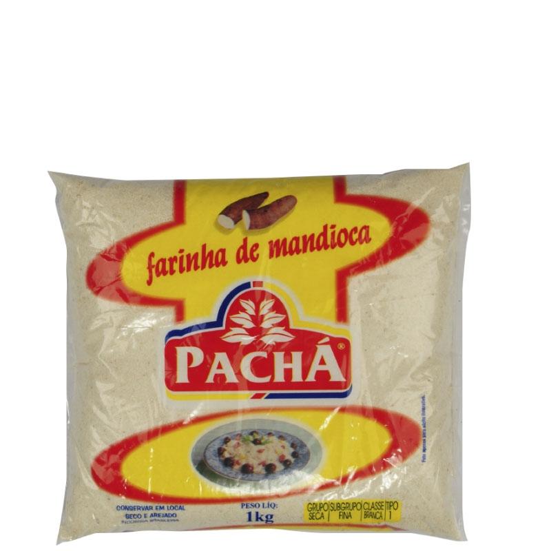 Farinha de Mandioca Branca Pachá - Fardo 20 uni. de 1Kg