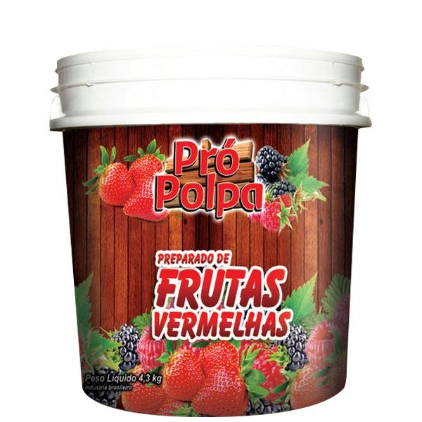 Polpa de Frutas Vermelhas Pró Polpa  4,1 Kg
