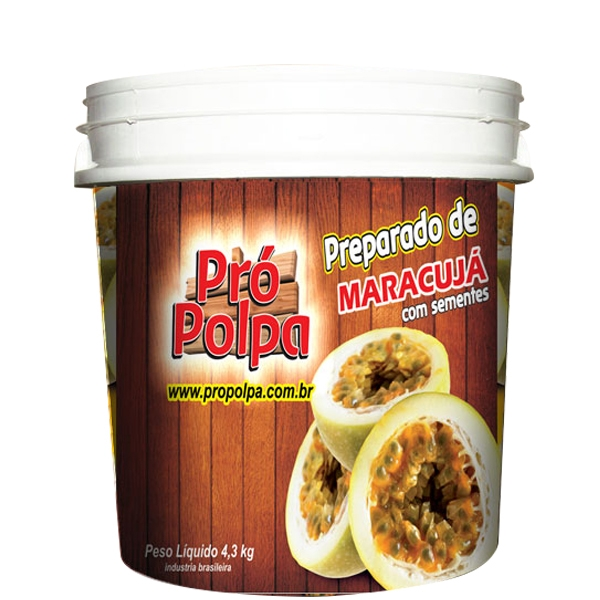 Polpa De Maracujá c/ Semente Pró Polpa 4,3 Kg