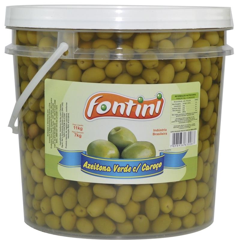Azeitona Verde com Caroço Fontini 7 Kg