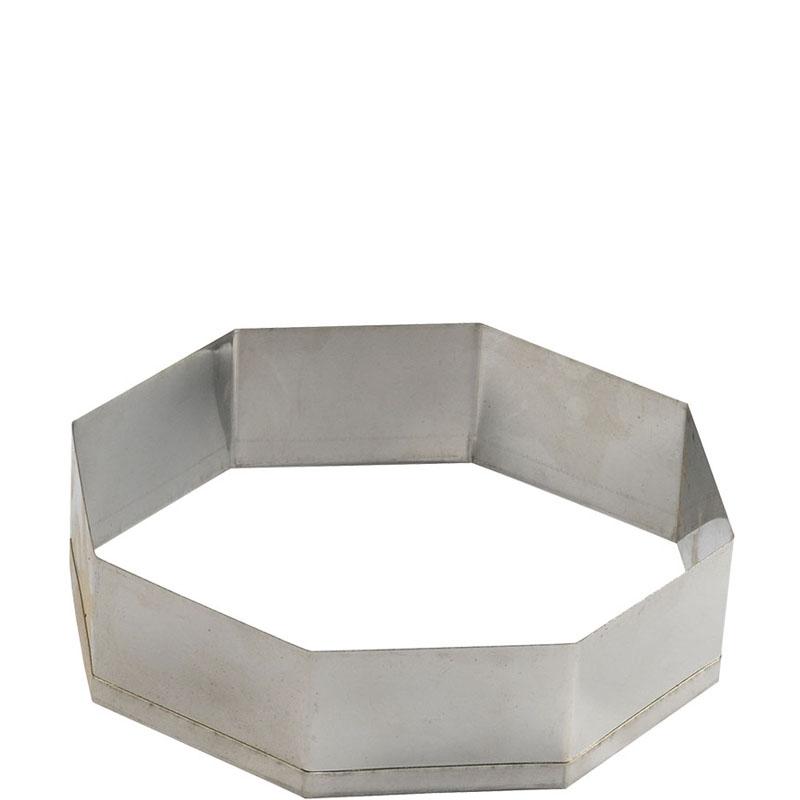 Aro Cortador Oitavado Inox 14 x 5 cm Doupan