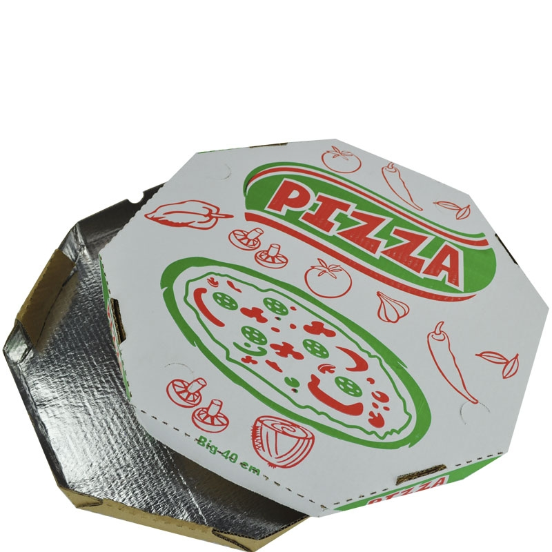 Caixa p/ Pizza Alumínio Oitavada 30 cm - 25 uni.