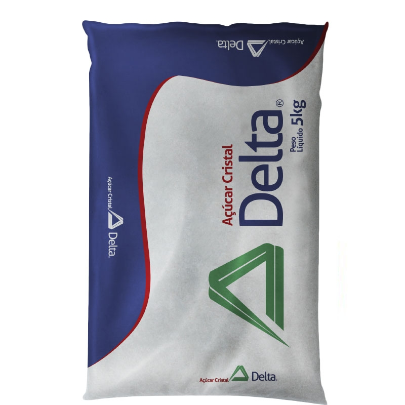 Açúcar Cristal Delta - 6 uni. de 5Kg