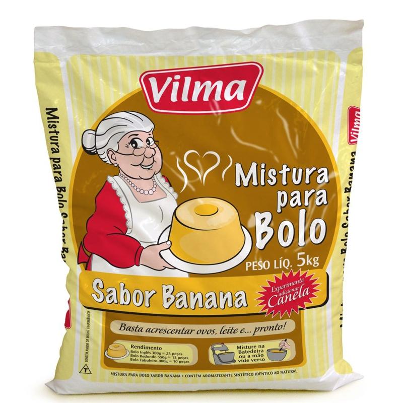 Mistura para Bolo Vilma Sabor Banana 5Kg