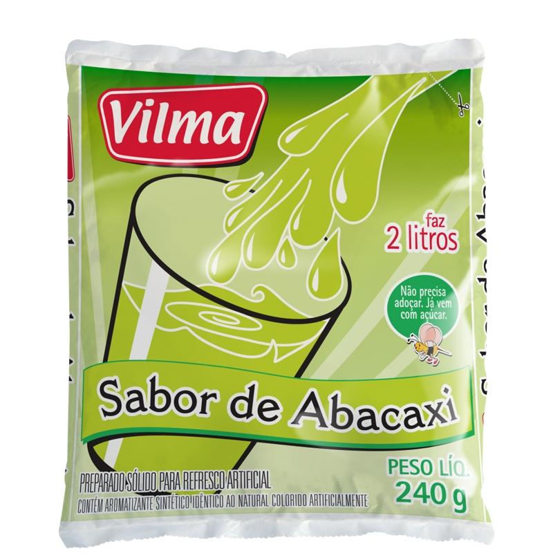 Refresco Vilma Sabor Abacaxi - Fardo 12 uni. de 240grs
