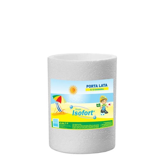 Porta Latas Isopor Isofort - 6 uni. de 300 ml