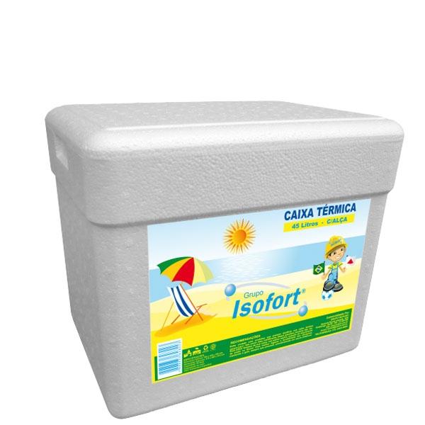 Caixa Térmica Isopor Isofort 45 L