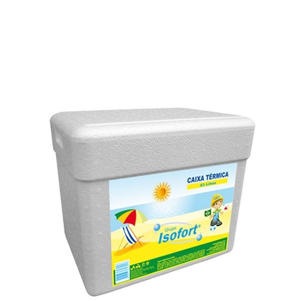 Caixa Térmica Isopor Isofort 3 L