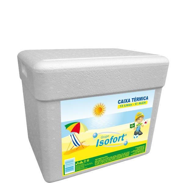 Caixa Térmica Isopor Isofort 13 L c/ Alça