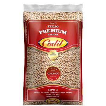 Feijão Carioca Premium Codil 1kg - 10 uni.