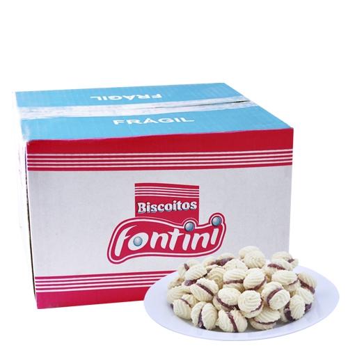 Biscoitos Amanteigados Nata Recheada Fontini 2,5 Kg