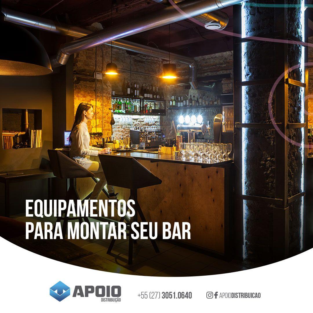 Equipamentos para montar o seu bar