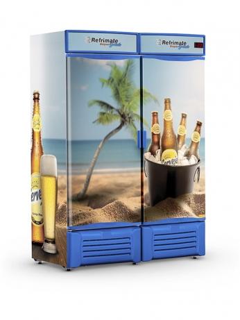 Visa Cooler Cerveja 1300 Porta Sólida - VCC1300S - 1