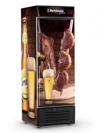 Visa Cooler Cerveja 410 Porta Sólida - VCC410S - 1