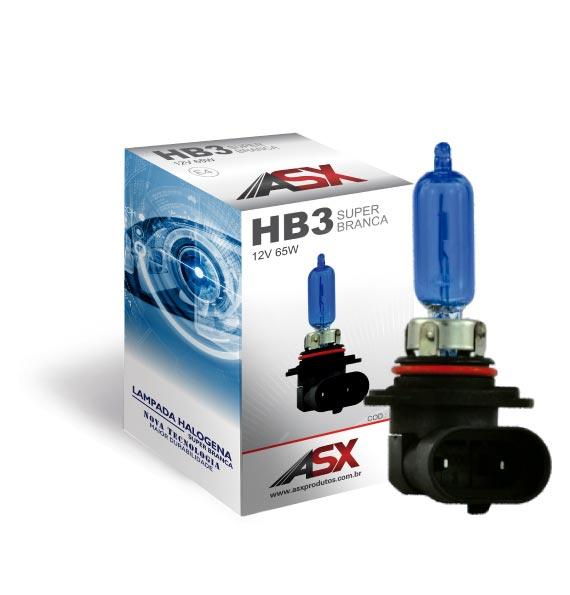 LÂMPADA HB4 (9006) SUPER BRANCA 55W  | ASX Produtos