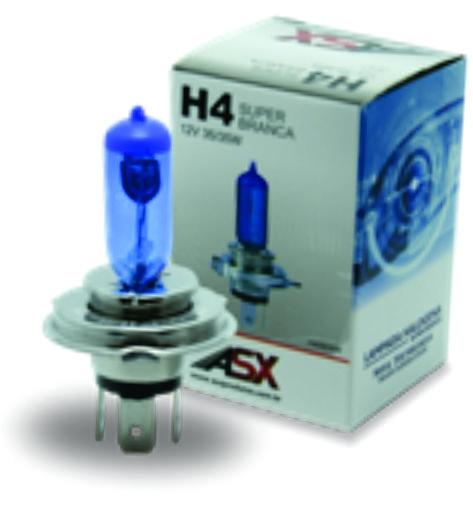 H4 SUPER BRANCA 12V 60/55W ou 24V 70W