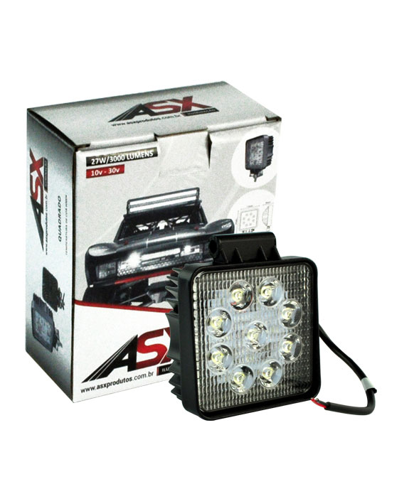 LED WORK LIGHT 27W BIVOLT QUADRADO