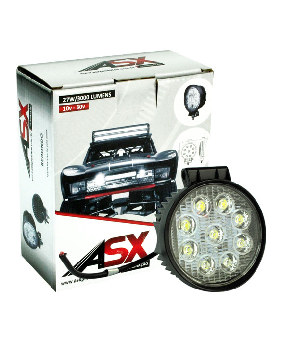 LED WORK LIGHT 27W BIVOLT REDONDO