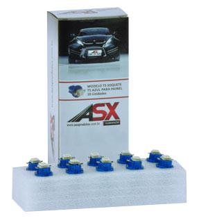T5 Soquete Azul LED | ASX Produtos