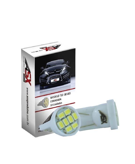 T10 8 LEDS 12V | ASX Produtos