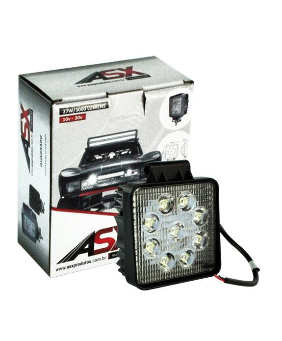 LED WORK LIGHT 27W BIVOLT QUADRADO | ASX Produtos