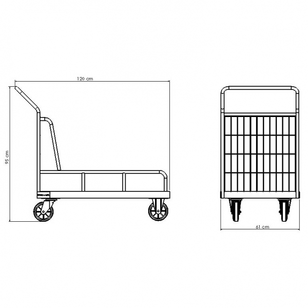 Carro Plataforma 300 kg com Abas | Zinco & Arte