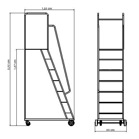 Escada 7 Degraus | Zinco & Arte
