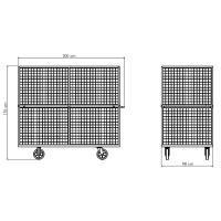 Carro Armazenador Para Caixa de Papelão | Zinco & Arte